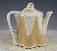 Golden Lace Teapot