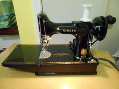 1957 Singer  221 Sewing Machines, Singer, Treadle Sewing Machines, Singers