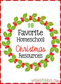 There are lots of great way to incorporate Christmas into your homeschool plans. This post contains my 10 Favorite Homeschool Christmas Resources Christmas Planning, Christmas Crafts For Kids, Christmas Ideas, Christmas Pjs, Xmas, Christmas 2017, Christmas Decor, How To Start Homeschooling, Christian Christmas