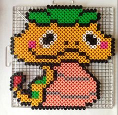 Yo-Kai Watch Perler Beads - Could be turned into a color chart for knitting