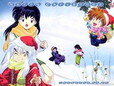 Christmas by Inuyasha and Kagome <3   ❤ Inuyasha ❤   Pinterest ...