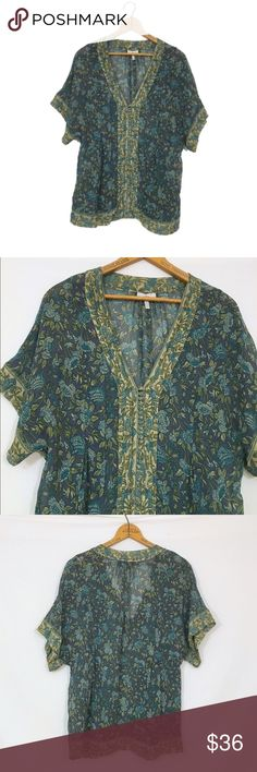 JOIE floral silk chiffon short sleeve blouse JOIE floral silk chiffon blouse  Excellent condition! 100% silk. Buttons are for embellishment, not function.  semi sheer and will require appropriate undergarments  bust 42 length 24.5 Joie Tops Blouses