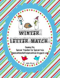 Winter Letter Recognition and Letter Match - Pinned by @PediaStaff – Please Visit ht.ly/63sNtfor all our pediatric therapy pins