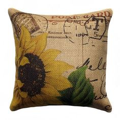 Invite fresh spring flair into your home with this eye-catching pillow, adding a pop of style to your sofa, settee, or master bed.   Produ...