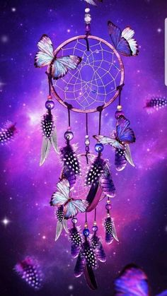 Dream Catcher with butterflies purple fantasy art print wall decor Dreamcatcher Wallpaper, Butterfly Wallpaper, Galaxy Wallpaper, Wallpaper Backgrounds, Dream Catcher Wallpaper Iphone, Wallpaper App, Purple Wallpaper, Purple Backgrounds, Purple Dream Catcher