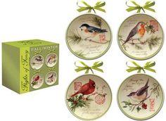 ICFFFW  Flight of Fancy Fall & Winter Mini Plates© Susan Winget                                                        birds