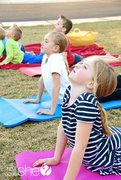 So many good ideas to help your children stay active! Link includes: relay ideas, games, snacks, and even good yoga poses for kids (sometimes it's good for them to hold still and think too!) #exercise #forkids #yogaforkids