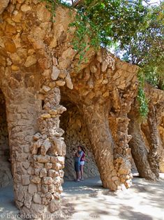 Amazing stone structues at Park Güell.