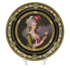 A large Royal Vienna painted, gilded, and decorated porcelain plate Austria, 19th Century