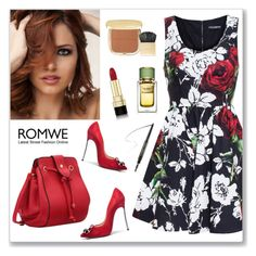 """""""ROMWE"""" by veronica7777 ❤ liked on Polyvore featuring Dolce&Gabbana, Casadei, women's clothing, women's fashion, women, female, woman, misses and juniors"""