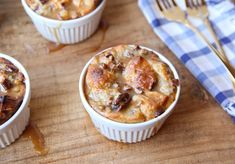 Bread pudding is a great dessert for fall, and the combination of white chocolate and a caramel drizzle is to die for.
