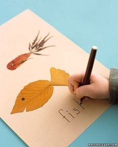 Ein Blätter ABC - zum Herbst basteln mit Kindern und im Kindergarten