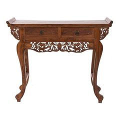 Detailed Console Table, 2 Drawer