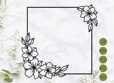 Boarder Designs, Frame Border Design, Page Borders Design, Flower Boarders, Flower Frame, Drawing Borders, Simple Flowers, Simple Flower Design, Flower Designs