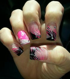 My funky nails! #AllAlittleDifferent #Nails