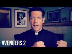 Father Mike Reviews The Avengers 2 - AscensionPresents: Ascension Presents personality Father Mike Schmitz offers a reflection on Avengers: Age of Ultron. While calling it a fun superhero movie, he also explores the underlying, more subtle worldview of the story. http://ascensionpresents.com/video/father-mike-reviews-the-avengers-2/