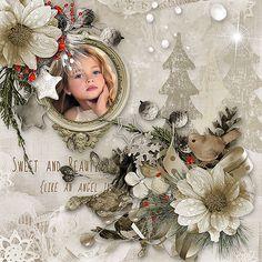 Digital Scrapbooking, Angel, Snow, Kit, Gallery, Design, Roof Rack, Eyes