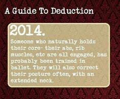 Backset dancer guide to deduction