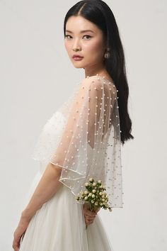 Tulle, tulle, and more tulle! We love the whimsical and airy bridal style that tulle brings to the table! We rounded up 20 top-tier Tulle Wedding Ideas that we are loving right now! Wedding Cape, Bridal Cape, Fall Wedding Dresses, Tulle Wedding, Bridal Dresses, Wedding Gowns, Flower Girl Dresses, Bridesmaid Dresses, Wedding Dress Topper