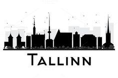 #Tallinn #City #Skyline #Silhouette by Igor Sorokin on @creativemarket