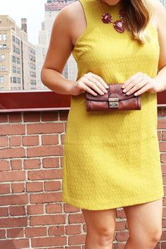 Mustard Yellow Shirt | Chambery and Champagne | Transition from work to drinks.