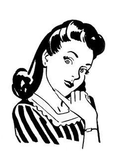 Retro Clip Art - Quirky Women - The Graphics Fairy