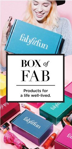 Have you tried the FabFitFun box? It's like a big surprise gift delivered to your doorstep each season. The box is stacked with premium, full-size beauty, fashion, and fitness products hand selected and curated to make you look and feel fabulous. See why we're the #1 full-size box today.