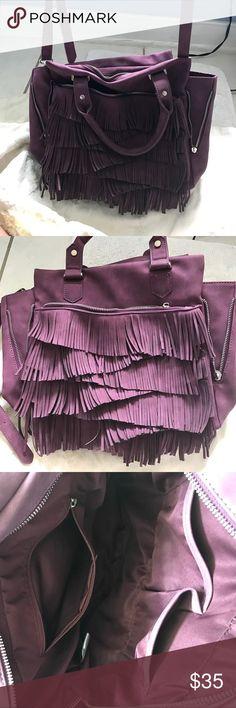 Free People satchel- GREAT DEAL Beautiful purple Free People Amber Vegan Leather Satchel Free People Bags Satchels