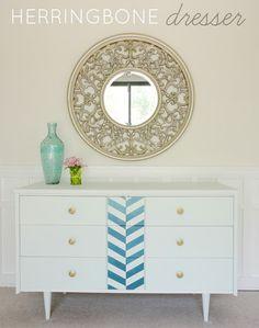 DIY Herringbone Dresser | LiveLoveDIY