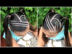 Peinados fáciles para niñas peinado con trenzas en diagonal y coletas lph - тривалість 8 25 Braid Styles For Girls, Best Street Food, Flower Girl Hairstyles, Compare And Contrast, Baby Carrots, Weight Loss Snacks, Healthy Snacks For Kids, Crochet Braids, How To Introduce Yourself