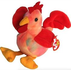 TY Beanie Baby - DOODLE the Rooster (4th Gen hang tag) Ty