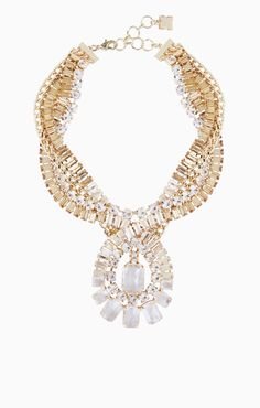 Twisted Stone Statement Necklace