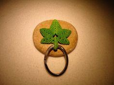 Hemp Leaf  Key Chain/ Bag Charm by MysticTrove on Etsy