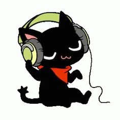 Gamer Cat rocks it in headset and his red scarf.  Would love to hear the music he must be listening to!