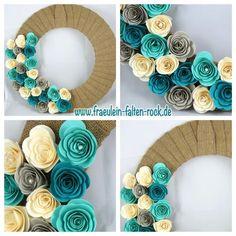 Paper Flowers Diy, Handmade Flowers, Felt Flowers, Flower Crafts, Handmade Crafts, Fabric Flowers, Stampin Up Ostern, Nursing Home Crafts, Umbrella Wreath