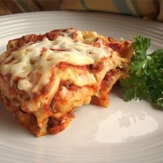 """Simply Traditional Lasagna I """"A traditional lasagna, with about half the time and effort!"""""""