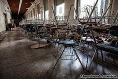 - Schenley High School: stacked chairs