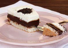 Recept s foto postupom na výbornú tortu s kokosovým korpusom a originálnym čokoládovým krémom. Sweet Desserts, Tiramisu, Cheesecake, Sweets, Cookies, Ethnic Recipes, Food, Pies, Crack Crackers