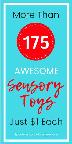Oh wow! The I had no idea there were this many sensory toys at the Dollar Tree! Items are perfect for calm down bins, fidgeting, and meeting different sensory needs for my kids with autism. I found sensory toys for visual seekers, tactile seekers, and even some deep pressure therapy tools! #sensoryplay #autismtherapy #sensoryprocessingdisorder #dollartree #cheaptoys
