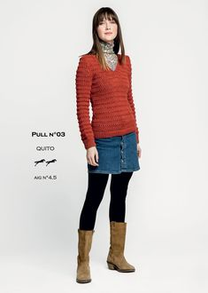 Patron Cheval Blanc Catalogue 28-03 - Pull pour femme Pulls, Knitting Patterns, Blouse, Long Sleeve, Sleeves, Sweaters, Quito, Clothes, Catalogue
