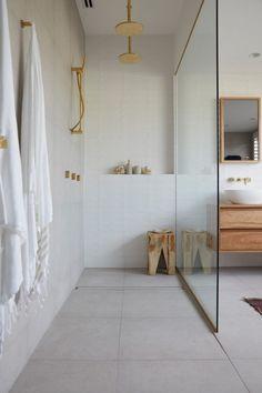 The Block 2019 Oslo: Master Ensuite Reveal The Block Bathroom, Downstairs Bathroom, Bathroom Renos, Laundry In Bathroom, Small Bathroom, Ensuite Bathrooms, Washroom, Bathroom Design Inspiration, Bathroom Interior Design