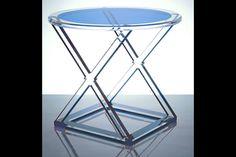 Alexandra Von Furstenberg's XOXO Acrylic Occasional Table Blue