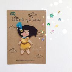 Pocahontas Princess Inspired Hair Clip Character