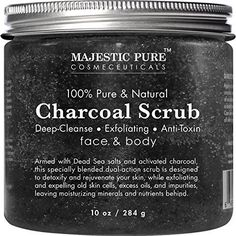 Face and Body Scrub; Reduces the appearances of Pores, Acne, Acne Scars, Blackheads and Whiteheads.i Formulated with dead sea salt and activated charcoal to expel excess oil and impurities from skin; exfoliate, detoxify, and rejuvenate skin; made in USA Activated charcoal acts like a magnet to attract and absorb dirt and oil from your skin, giving you a deep cleaned feeling; excellent for acne prone skin; detoxify and rejuvenate, effectively exfoliate skin while giving it the moisturizing…