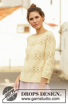 Women - Free knitting patterns and crochet patterns by DROPS Design Drops Design, Sweater Knitting Patterns, Cardigan Pattern, Free Knitting, Drops Patterns, Lace Patterns, Crochet Patterns, Crochet Design, Magazine Drops