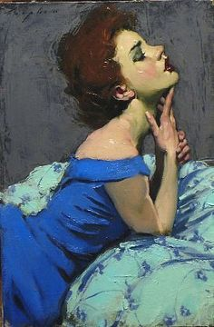 """Hand to Chin,"" by Malcolm Liepke, 2011"