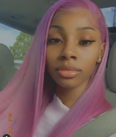 Pretty Females, Coloured Hair, Different Hairstyles, Naturally Beautiful, Purple Hair, Human Hair Wigs, Wig Hairstyles, Pretty Girls, Cute Pictures