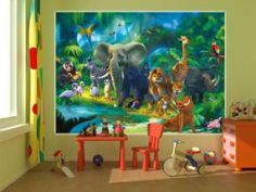 1000 ideas about boys jungle bedroom on pinterest for Poster mural xxl fleurs