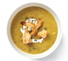 Split Pea Soup Bon appetit. If you want to make this soup but you don't have a ham bone, use two ham hocks instead.