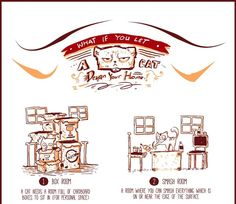 Chart: What If You Let A Cat Design Your Home? - DesignTAXI.com